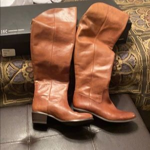 Inc  brown leather boots